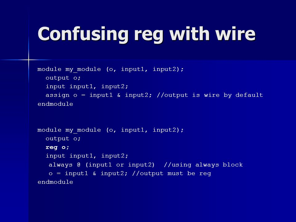 Confusing reg with wire