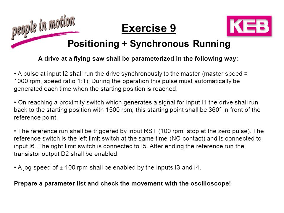 Exercise 9 Positioning + Synchronous Running
