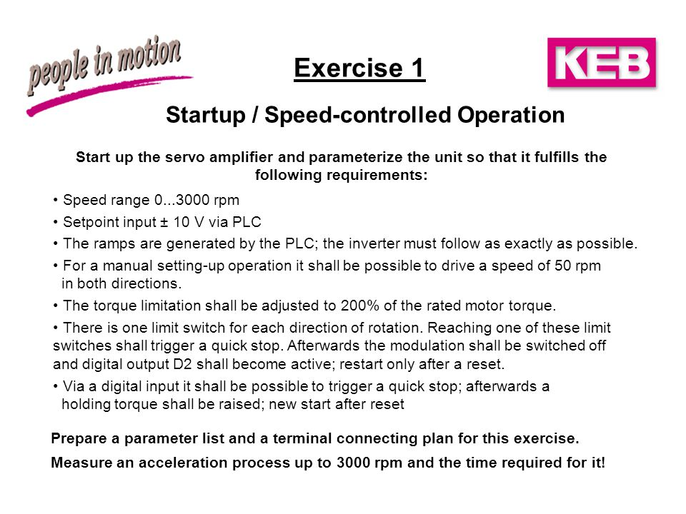 Startup / Speed-controlled Operation