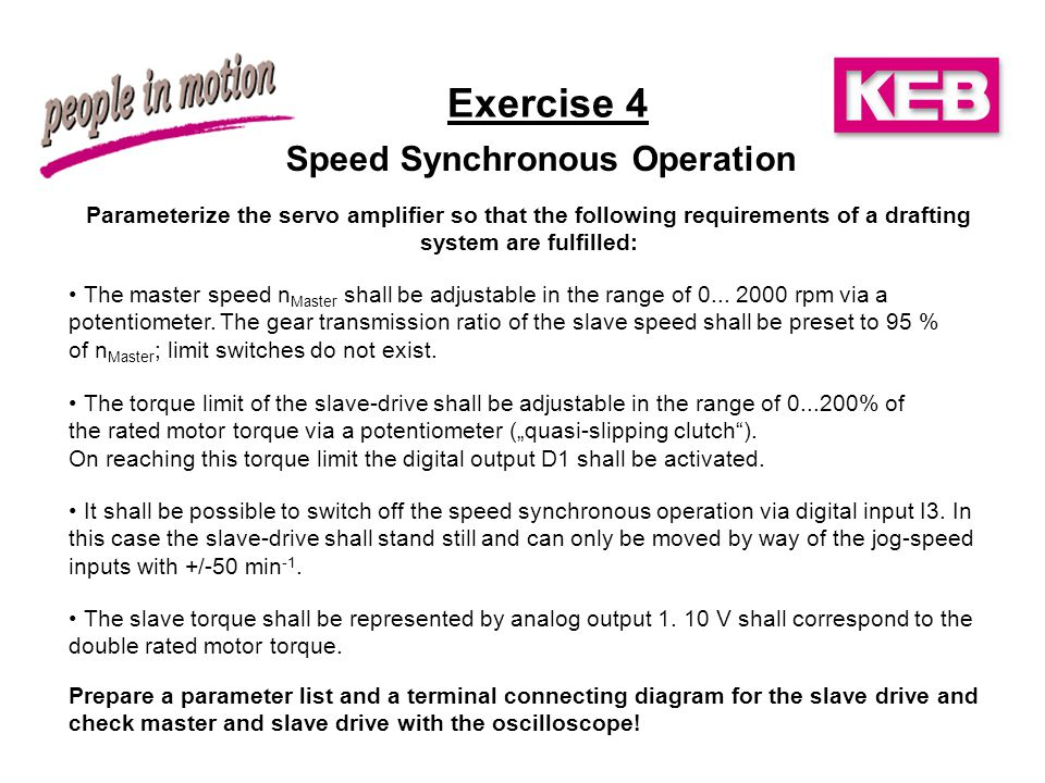 Speed Synchronous Operation