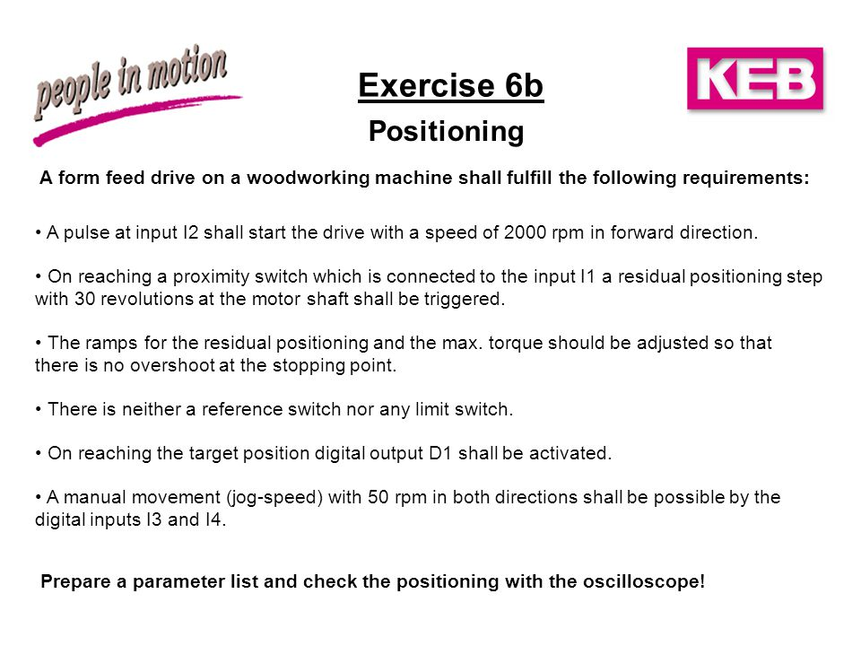 Exercise 6b Positioning