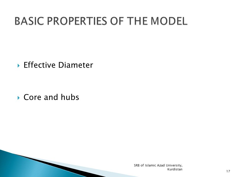 BASIC PROPERTIES OF THE MODEL