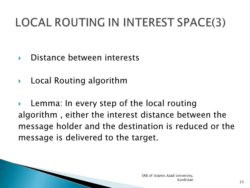 LOCAL ROUTING IN INTEREST SPACE(3)