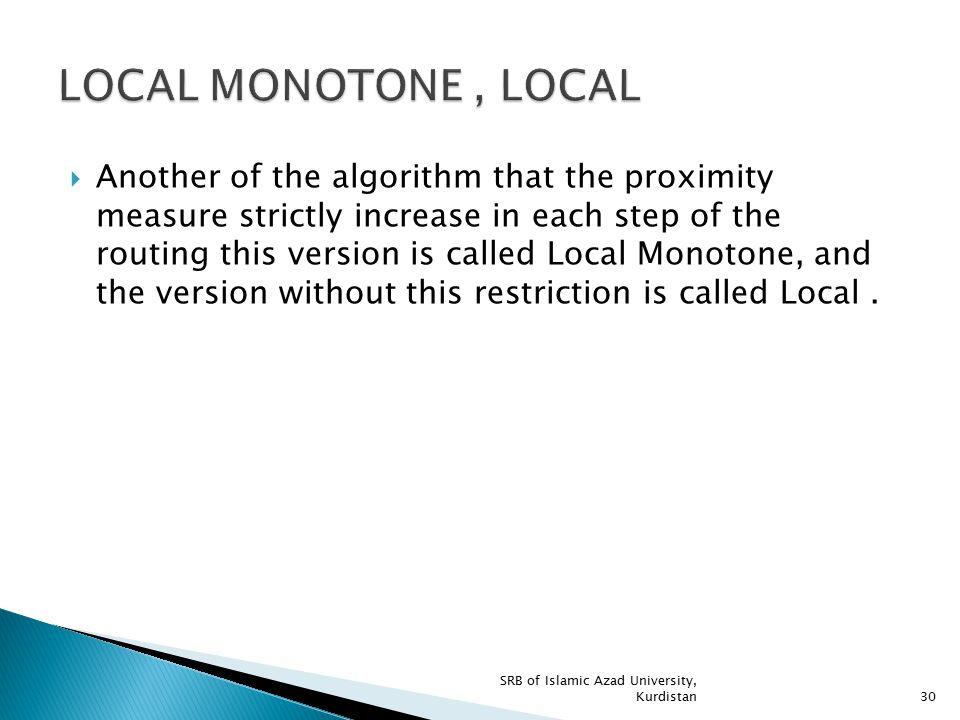 LOCAL MONOTONE , LOCAL