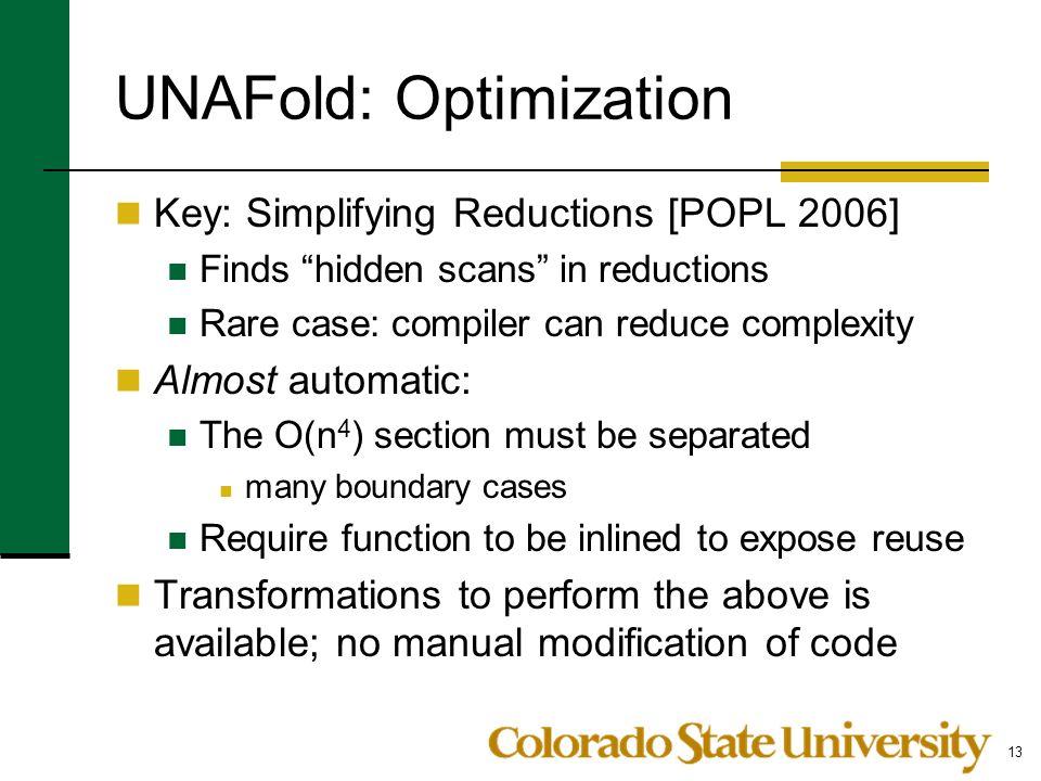 UNAFold: Optimization