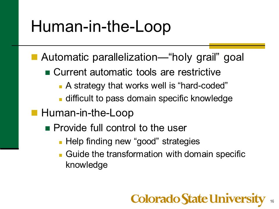 Human-in-the-Loop Automatic parallelization— holy grail goal