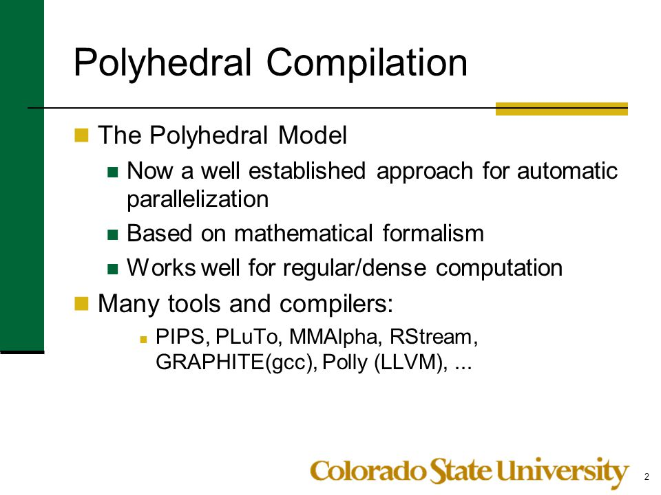 Polyhedral Compilation