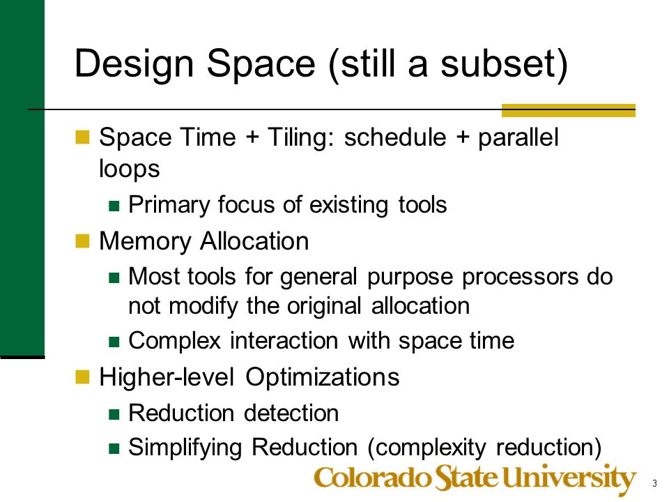 Design Space (still a subset)