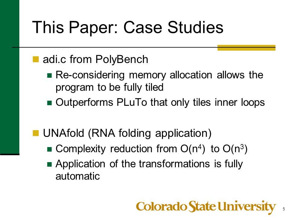 This Paper: Case Studies