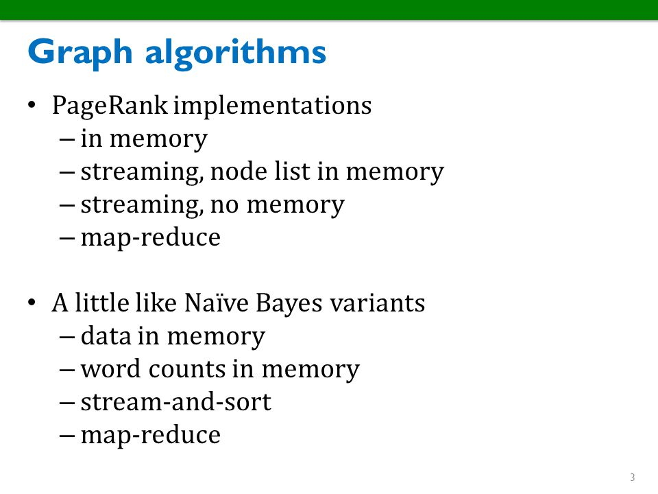 Graph algorithms PageRank implementations in memory