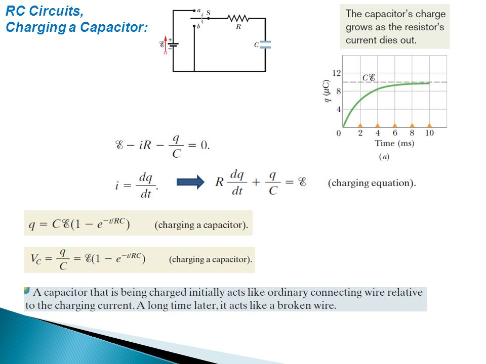 RC Circuits, Charging a Capacitor: