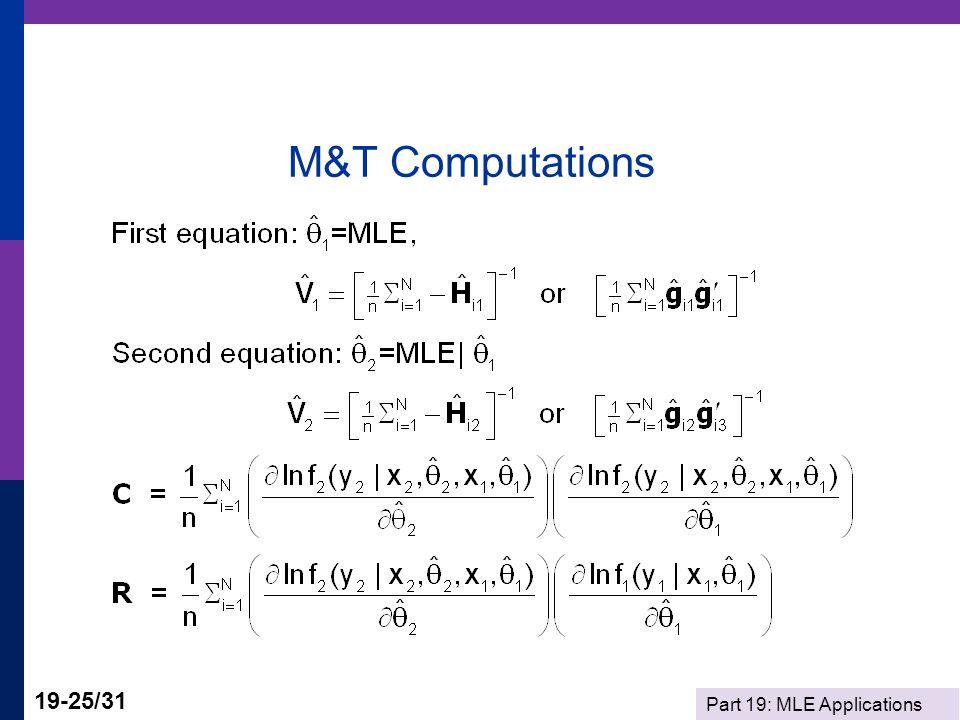 M&T Computations