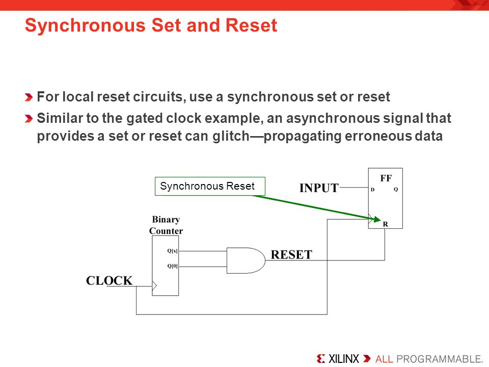 Synchronous Set and Reset