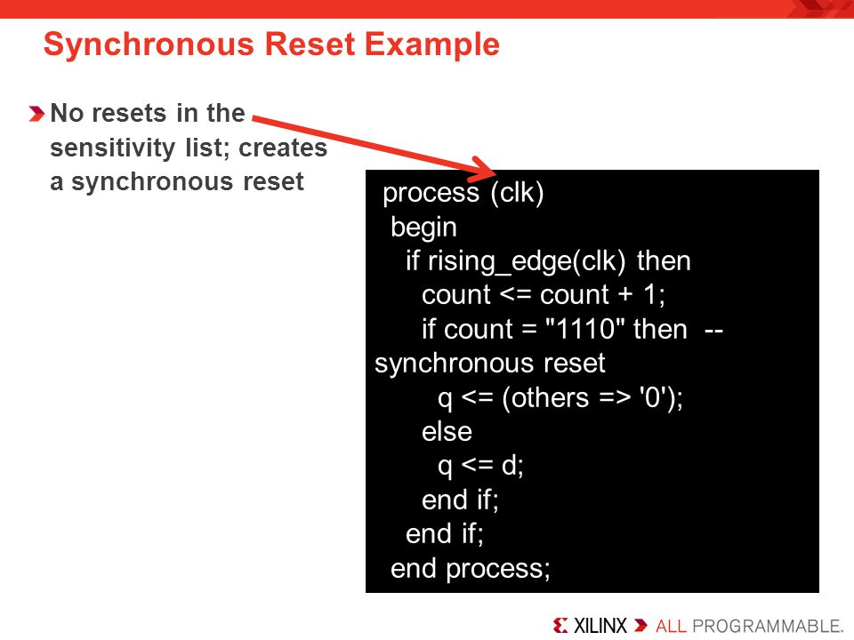 Synchronous Reset Example