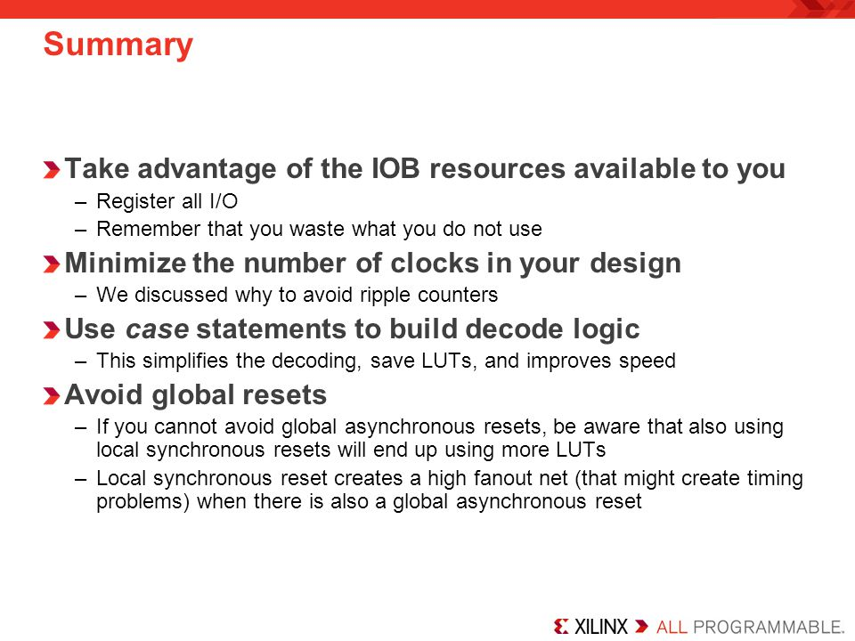 Summary Take advantage of the IOB resources available to you