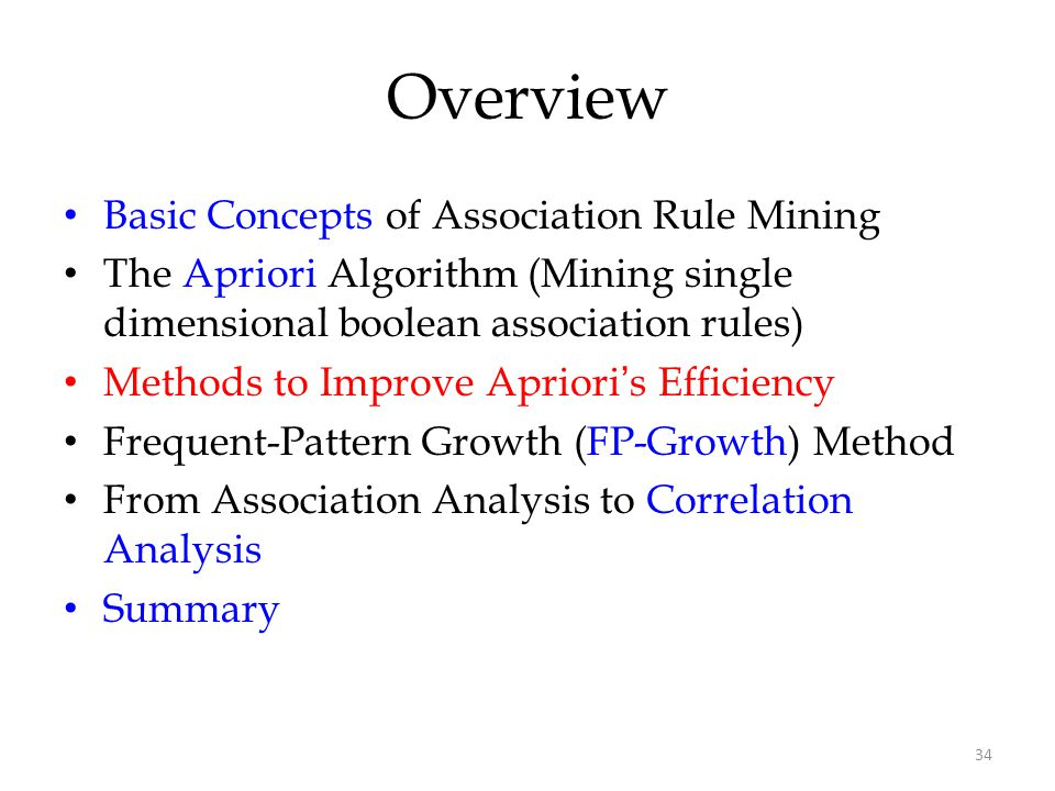 Overview Basic Concepts of Association Rule Mining