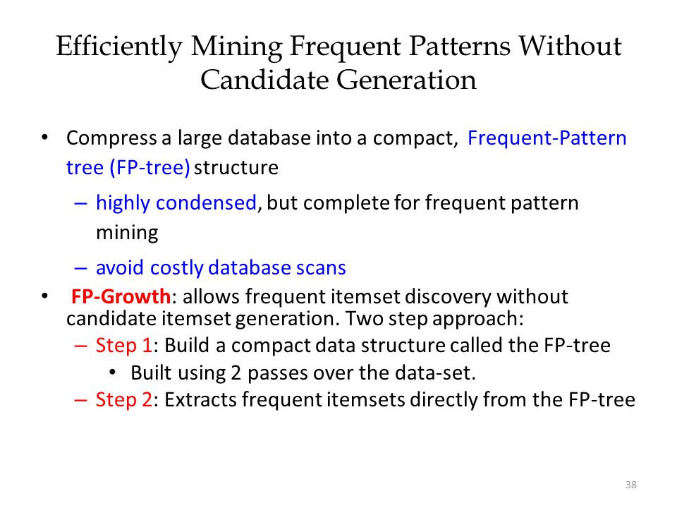 Efficiently Mining Frequent Patterns Without Candidate Generation