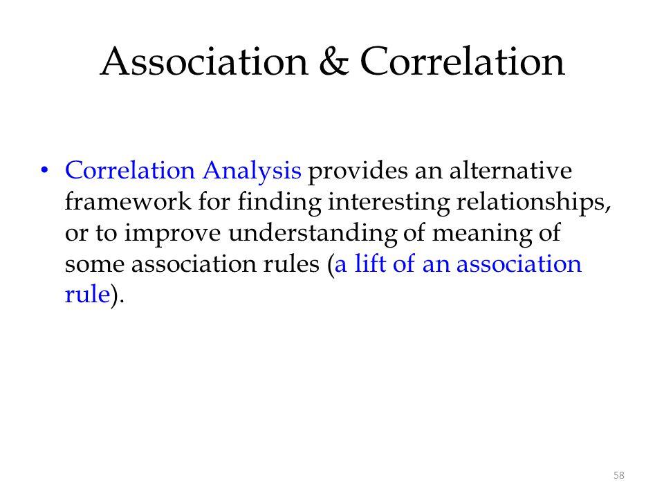 Association & Correlation