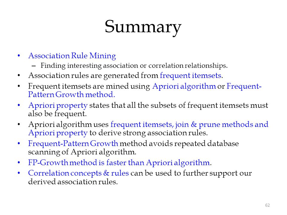 Summary Association Rule Mining