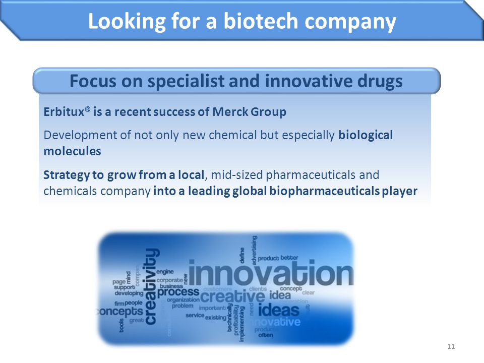 Looking for a biotech company Focus on specialist and innovative drugs
