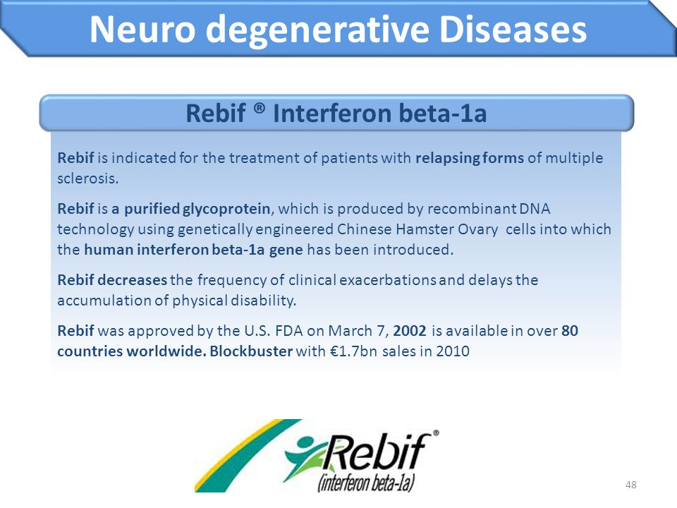 Neuro degenerative Diseases Rebif ® Interferon beta-1a