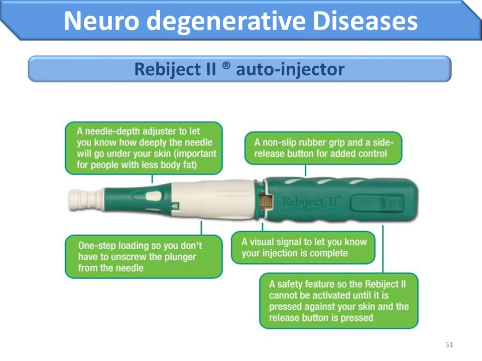Neuro degenerative Diseases Rebiject II ® auto-injector