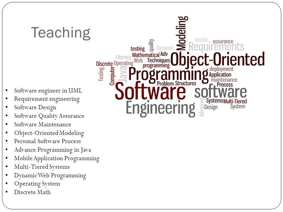 Teaching Software engineer in UML Requirement engineering