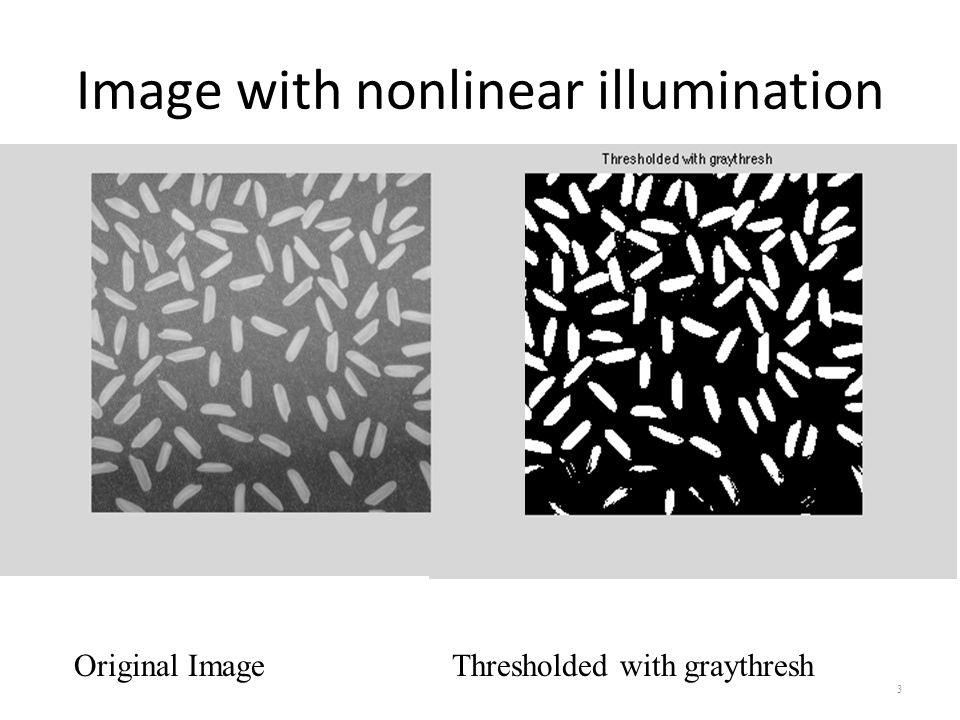 Image with nonlinear illumination