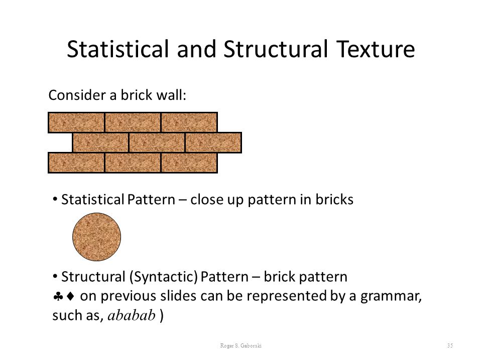 Statistical and Structural Texture