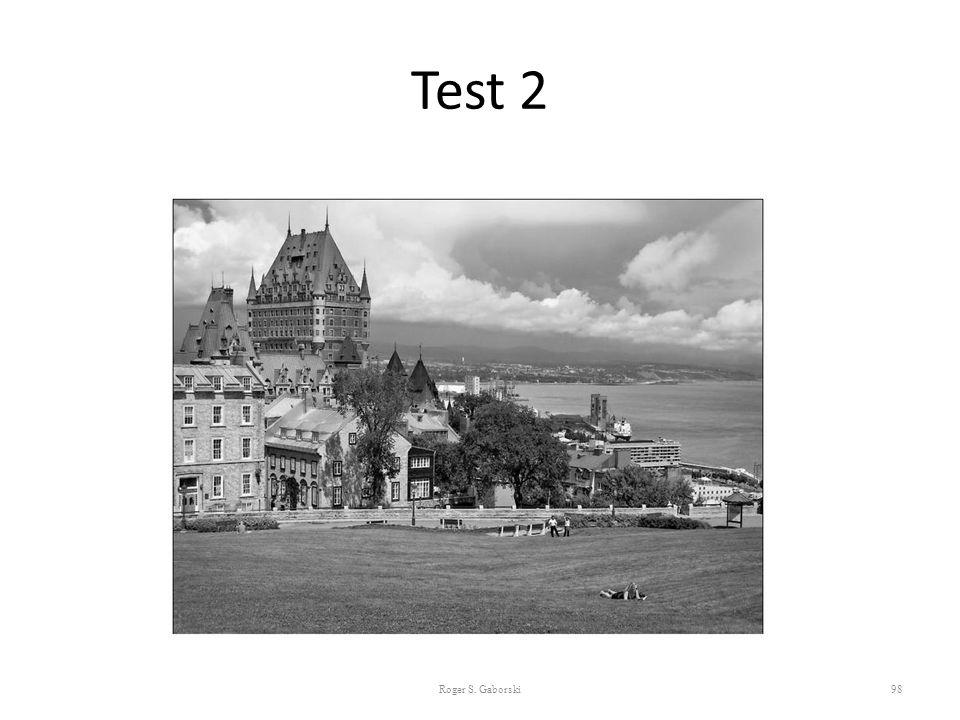 Test 2 Roger S. Gaborski