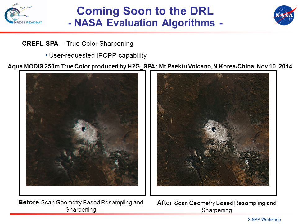 Coming Soon to the DRL - NASA Evaluation Algorithms -