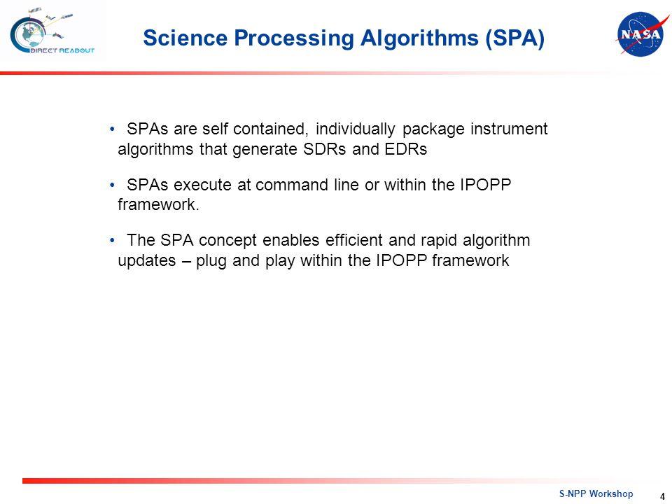Science Processing Algorithms (SPA)