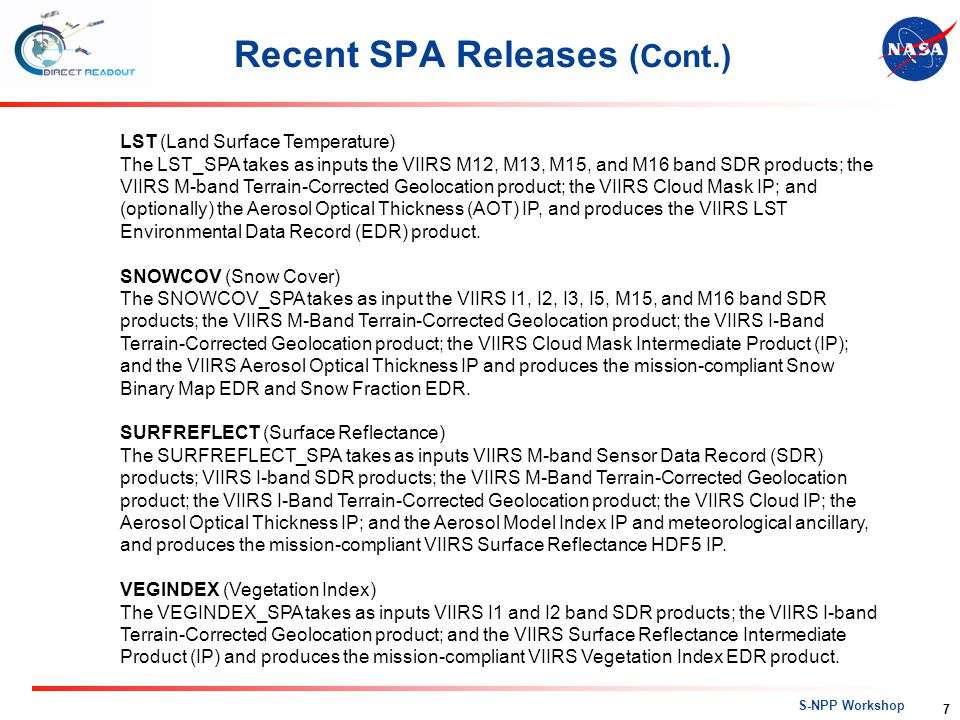 Recent SPA Releases (Cont.)