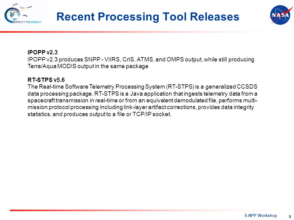 Recent Processing Tool Releases
