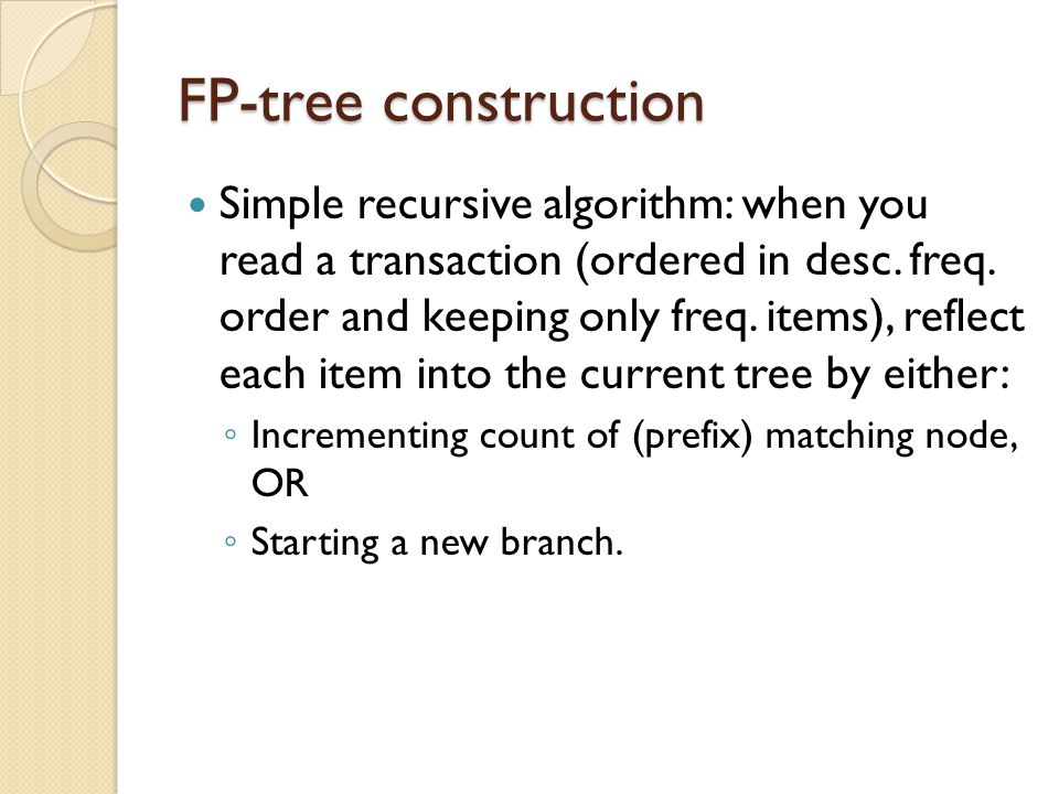 FP-tree construction