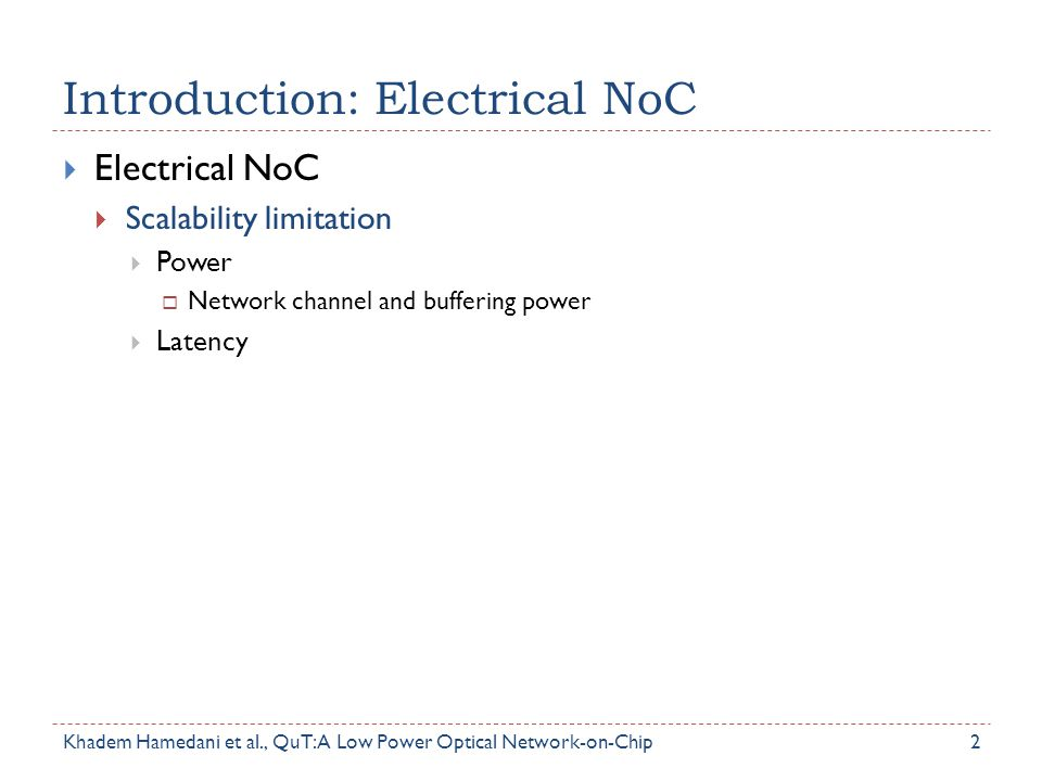 Introduction: Electrical NoC