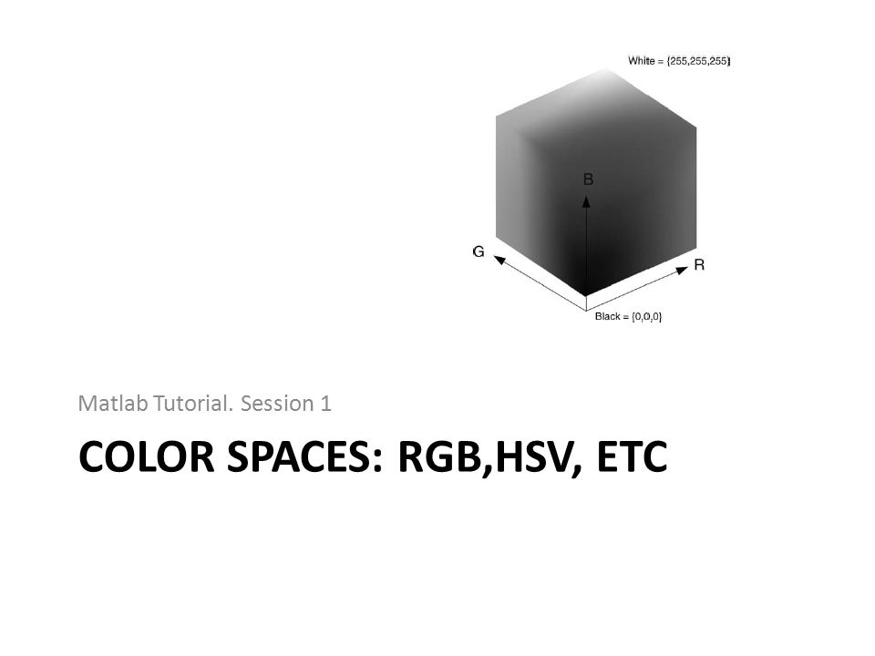 Color spaces: Rgb,HSV, etc