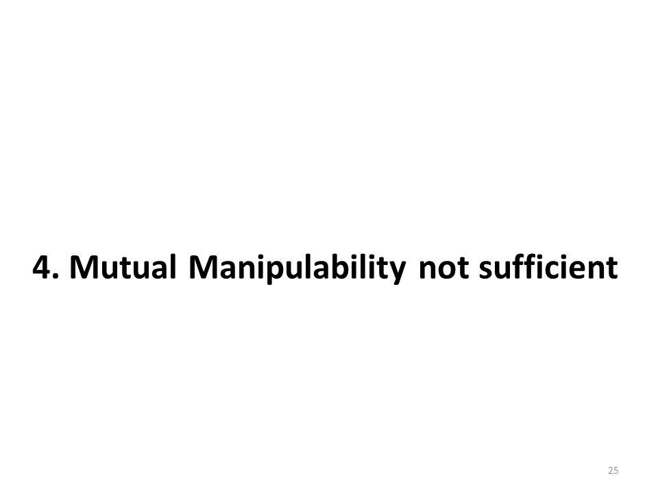 4. Mutual Manipulability not sufficient