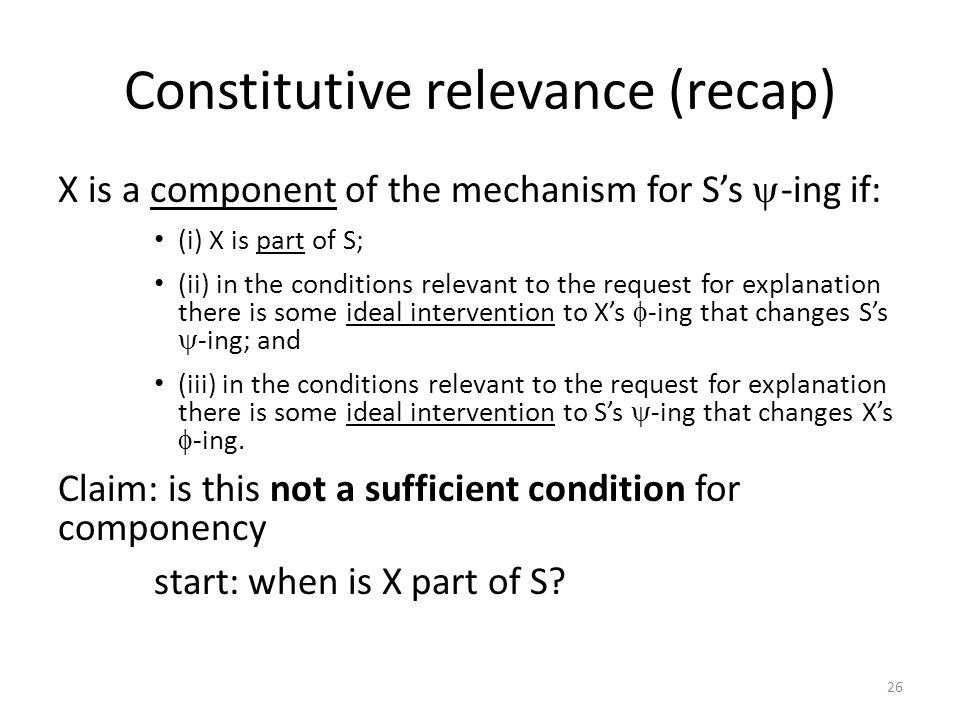 Constitutive relevance (recap)