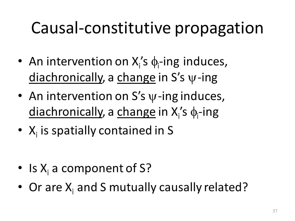 Causal-constitutive propagation