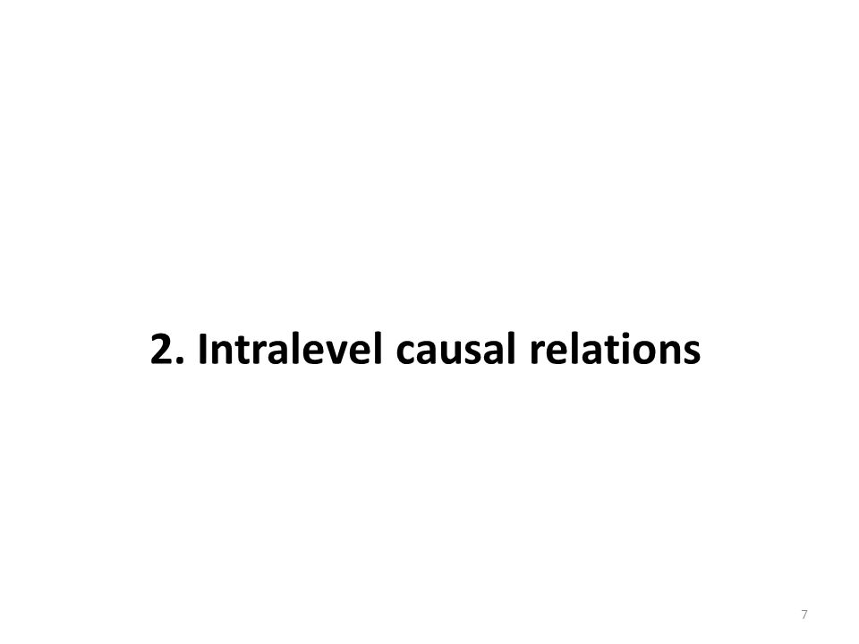2. Intralevel causal relations