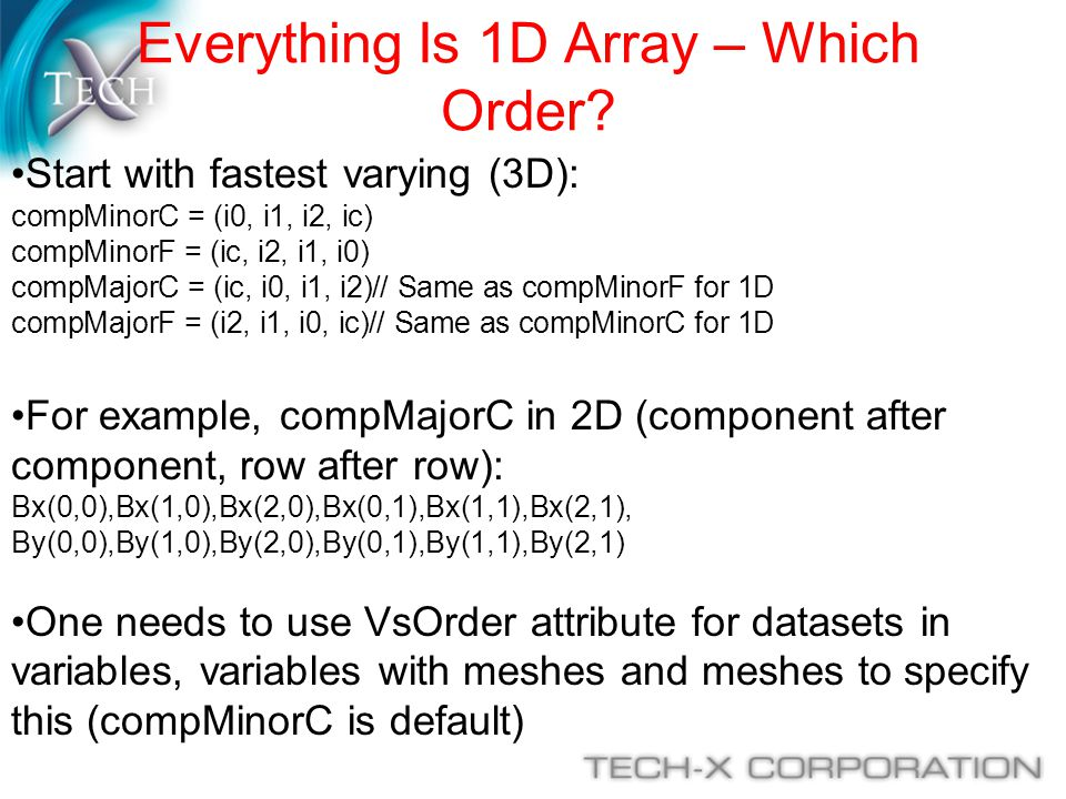 Everything Is 1D Array – Which Order