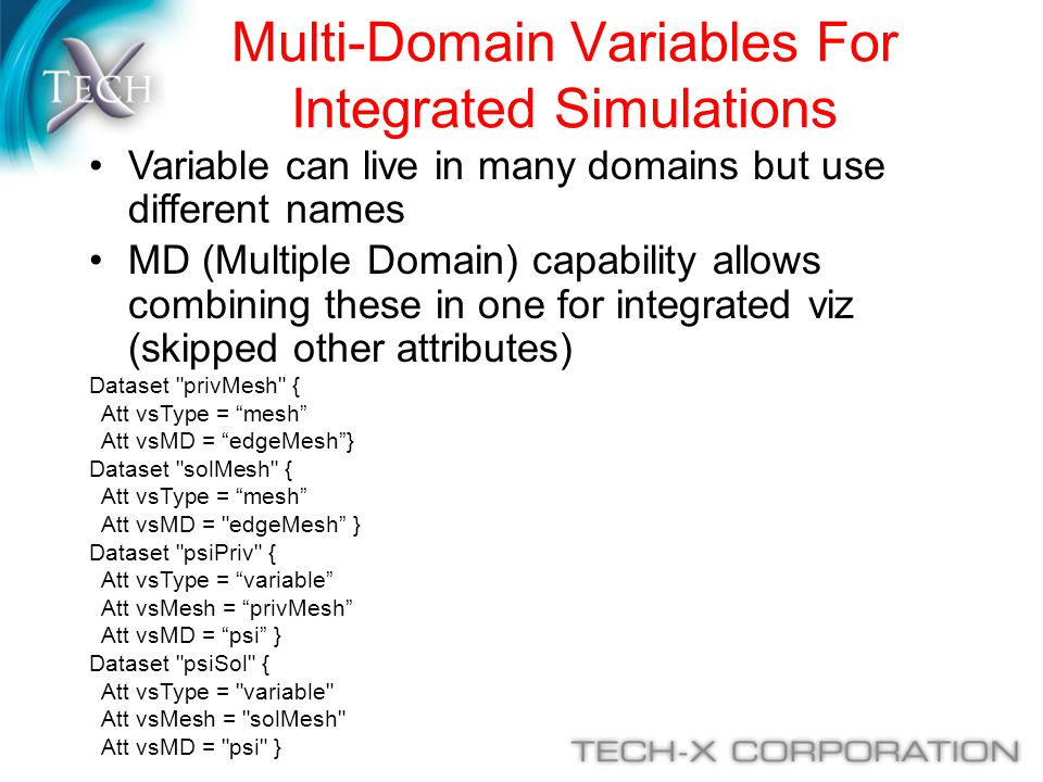 Multi-Domain Variables For Integrated Simulations