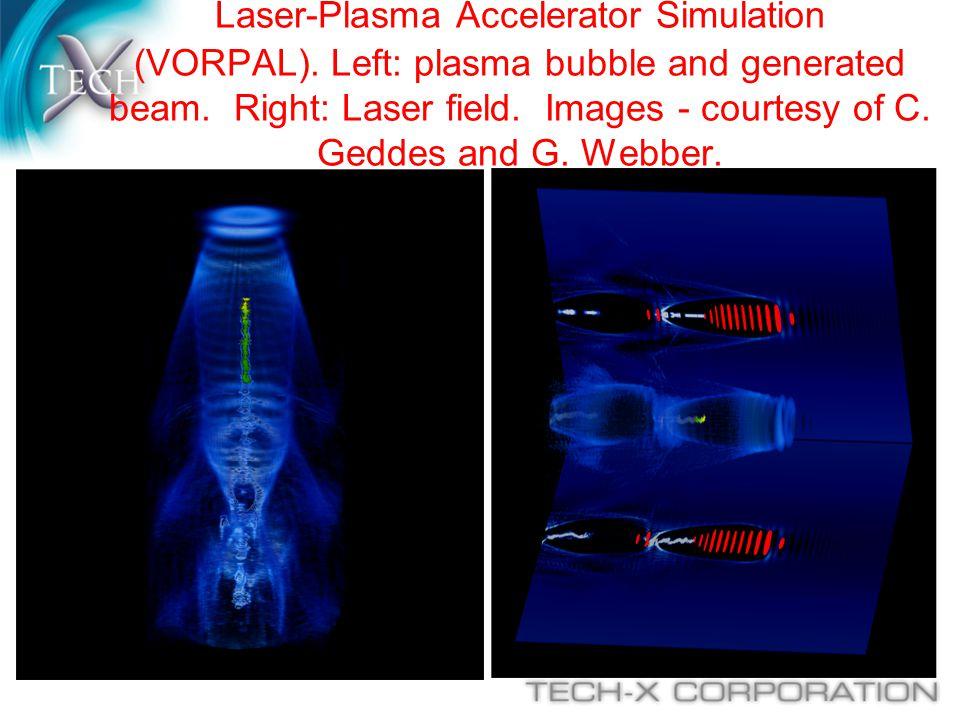 Laser-Plasma Accelerator Simulation (VORPAL)