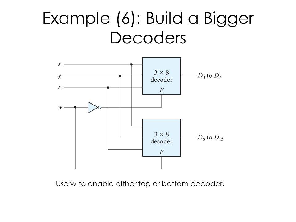 Example (6): Build a Bigger Decoders