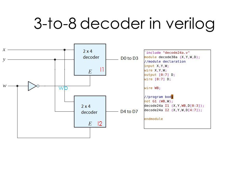 3-to-8 decoder in verilog