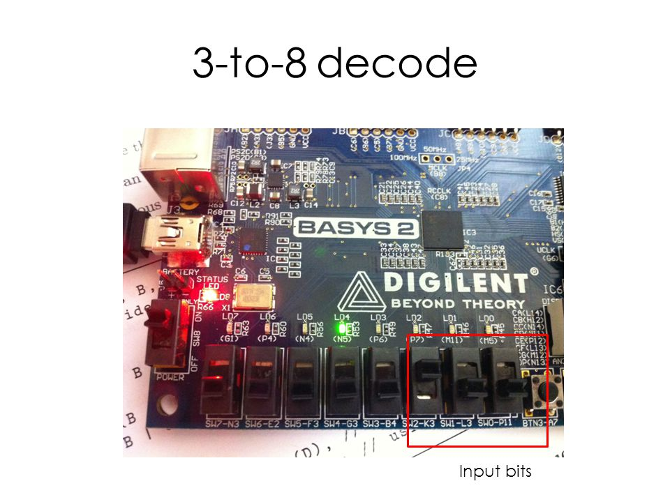 3-to-8 decode Input bits