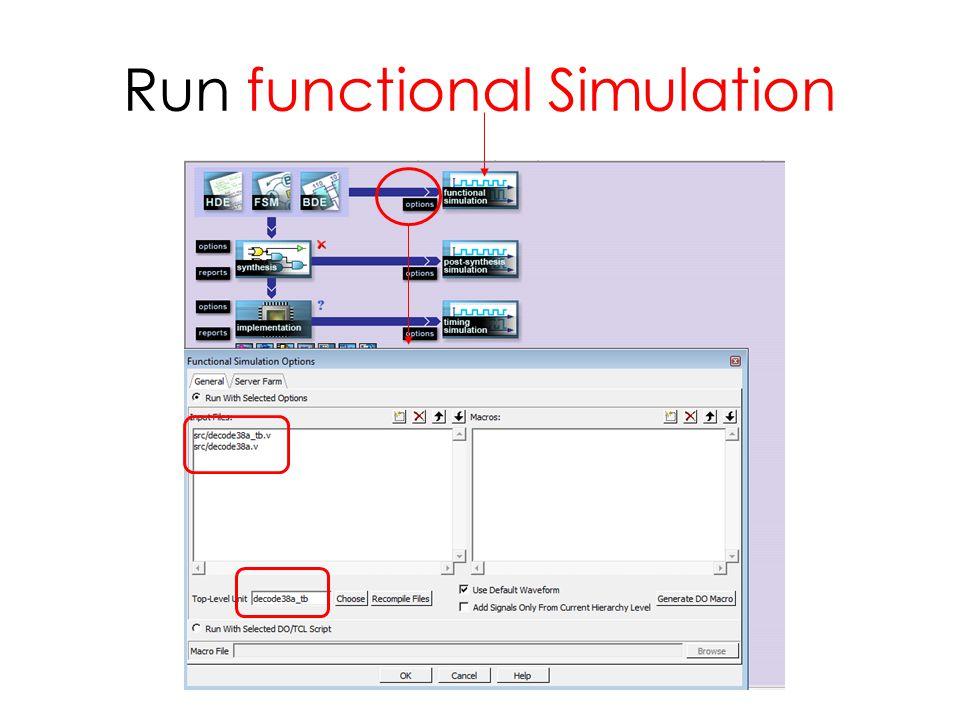 Run functional Simulation