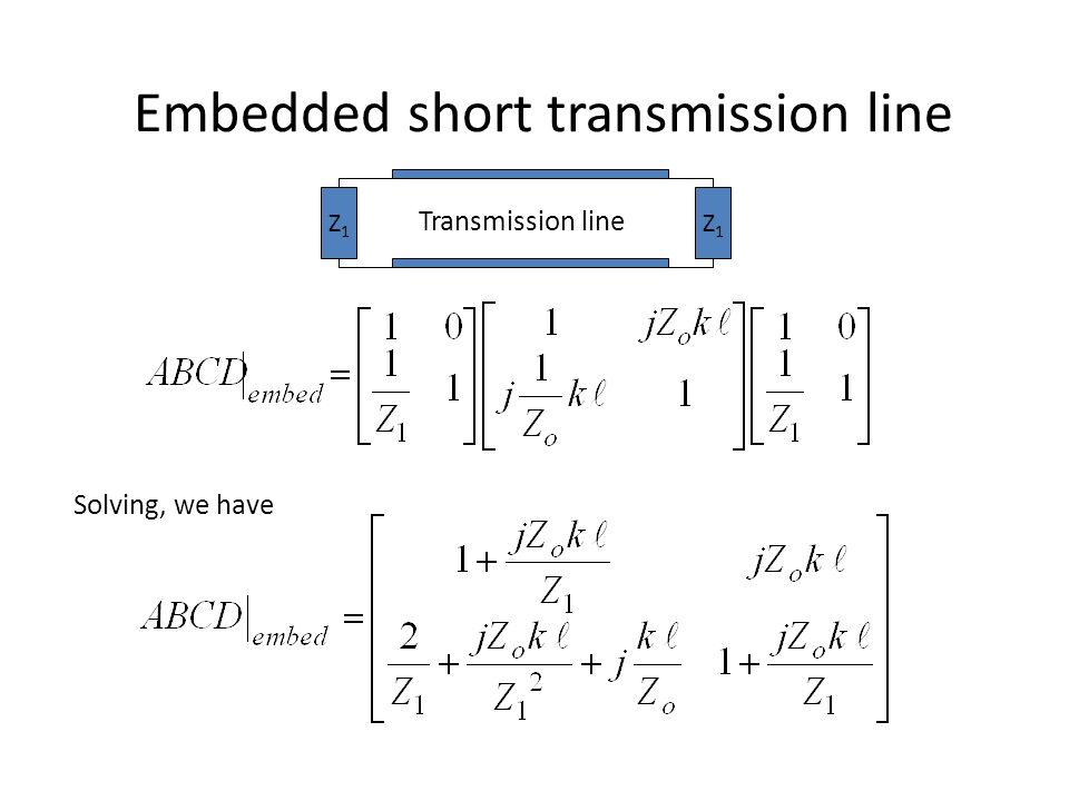 Embedded short transmission line