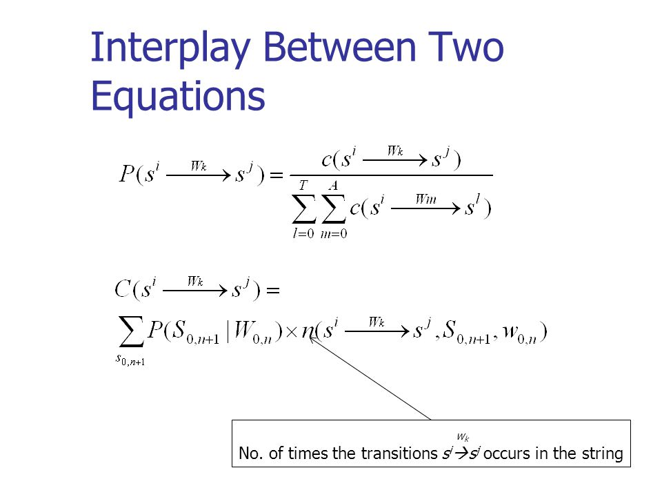 Interplay Between Two Equations